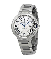 Cartier Ballon Bleu Automatic Silver Dial Ladies Watch