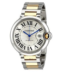 Cartier Ballon Bleu Automatic Silver Dial Men's Watch