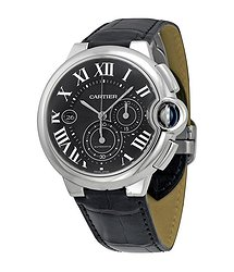 Cartier Ballon Bleu Black Dial Chronograph Men's Watch