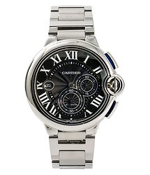 Cartier Ballon Bleu Chronograph Automatic Black Dial Men's Watch