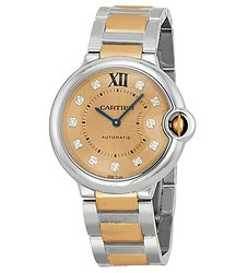 Cartier Ballon Bleu de Automatic Diamond Ladies Watch