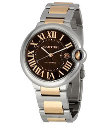 Cartier Ballon Bleu de Cartier Gold and Steel Large Watch