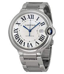 Cartier Ballon Bleu de Silver Opaline Dial Men's Watch