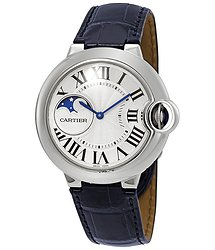 Cartier Ballon Bleu Moonphase Automatic Silver Dial Ladies Watch
