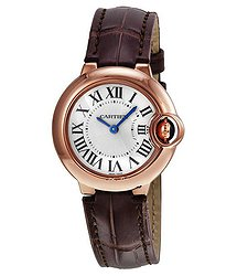 Cartier Ballon Bleu Silver Dial 18kt Rose Gold Ladies Watch