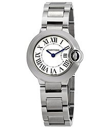Cartier Ballon Bleu Silver Dial Stainless Steel Ladies Watch