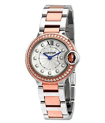 Cartier Ballon Bleu Silver Dial Two-tone Stainless Steel Ladies Watch