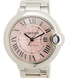 Cartier Ballon Bleu Stainless Steel Pink Automatic W6920100