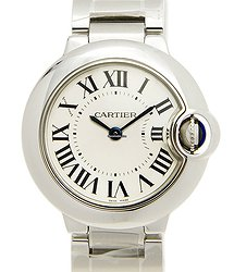 Cartier Ballon Bleu Stainless Steel Silver Quartz W69010Z4
