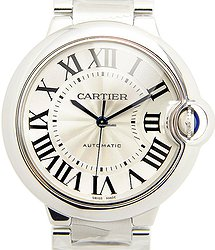 Cartier Ballon Bleu Stainless Steel Silvery White Automatic W6920046