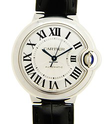 Cartier Ballon Bleu Stainless Steel Silvery White Automatic W6920085