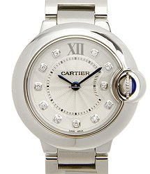 Cartier Ballon Bleu Stainless Steel Silvery White Quartz WE902073