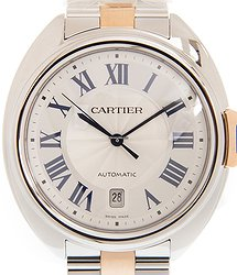 Cartier Ballon Bleu Stainless Steel White Automatic W2CL0010