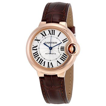 Купить часы Cartier Balloon Bleu Silvered 18kt Pink Gold Opaline Flinque Dial Ladies Watch  в ломбарде швейцарских часов