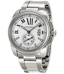 Cartier Calibre de Automatic Silver Dial Men's Watch