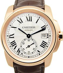 Cartier Calibre De Cartier 18kt Rose Gold Silvery & White Automatic WGCA0003