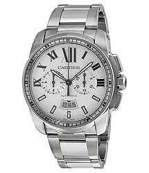 Cartier Calibre de Cartier Silver Dial Chronograph Automatic Men's Watch