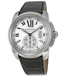 Cartier Calibre De Silver Dial Men's Watch