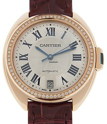 Cartier Clé De Cartier 18kt Rose Gold & Diamonds White Automatic WJCL0048