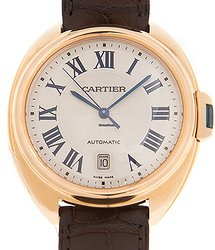 Cartier Clé De Cartier 18kt Rose Gold White Automatic WGCL0004