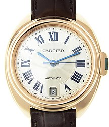 Cartier Clé De Cartier 18kt Rose Gold White Automatic WGCL0013