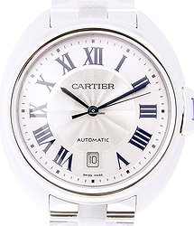 Cartier Clé De Cartier Stainless Steel Silvery White Automatic WSCL0007