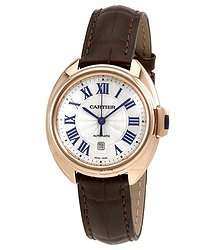 Cartier Cle Automatic Flinque Sunray Dial Ladies Watch