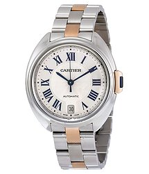 Cartier Cle Automatic Silver Dial Ladies Watch