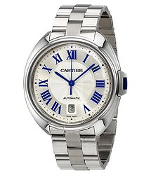 Cartier Cle de Cartier Silver-tone Dial Men's Watch
