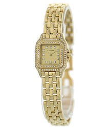 Cartier Panthere Quartz Diamond Gold Dial Ladies Watch 1280 2