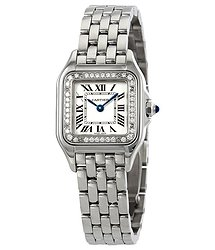 Cartier Panthere Small Diamond Silver Dial Ladies Watch