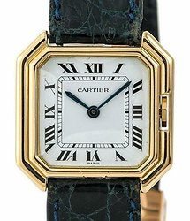 Cartier Paris Sextavado White Dial Ladies Watch