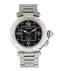 Cartier Pasha Automatic Black Dial Ladies Watch