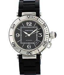 Cartier Pasha Automatic Black Dial Men's Watch