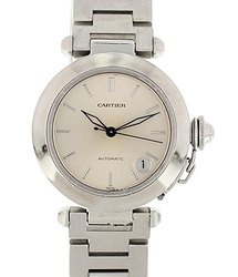 Cartier Pasha Automatic Silver Dial Ladies Watch