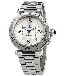 Cartier Pasha Automatic Silver Dial Men's Watch