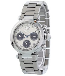 Cartier Pasha Chronograph Automatic Silver Dial Ladies Watch