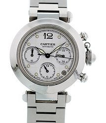 Cartier Pasha Chronograph Automatic White Dial Men's Watch