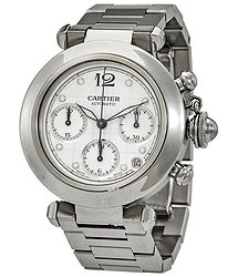 Cartier Pasha Chronograph Automatic White Dial Watch