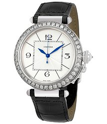 Cartier Pasha Diamond 18kt White Gold Men's Watch