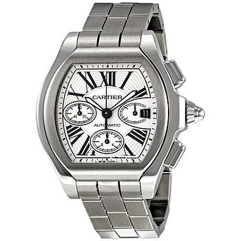 Купить часы Cartier Roadster Automatic Chronograph Silver Dial Stainless Steel Men's Watch  в ломбарде швейцарских часов