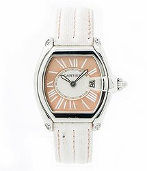 Cartier Roadster Pink Dial Ladies Watch