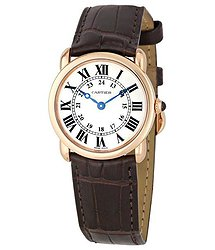 Cartier Ronde Louis 18kt Rose Gold Ladies Watch
