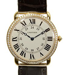 Cartier Ronde Louis Cartier 18kt Rose Gold & Diamonds Silvery & White Manual Wind WR000451
