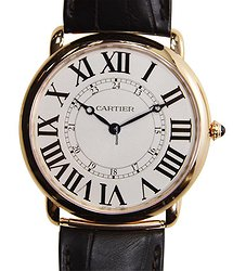 Cartier Ronde Louis Cartier 18kt Rose Gold Silver Manual Wind W6801004