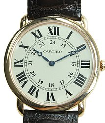 Cartier Ronde Louis Cartier 18kt Rose Gold Silvery & White Automatic W6800251