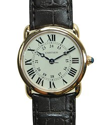 Cartier Ronde Louis Cartier 18kt Rose Gold Silvery & White Quartz W6800151