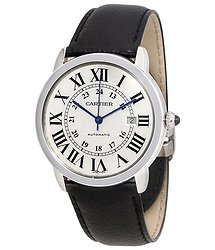 Cartier Ronde Solo Automatic Silvered Opaline Dial Men's Watch