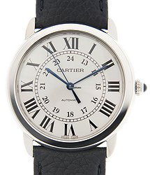 Cartier Ronde Solo De Cartier Stainless Steel Silver Automatic WSRN0021