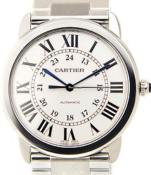 Cartier Ronde Solo De Cartier Stainless Steel White Automatic WSRN0012